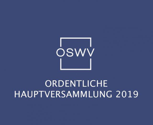 OSWV Ordentliche Hauptversammlung 2019